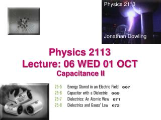 Physics 2113  Lecture: 06 WED 01 OCT
