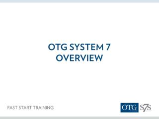 What is OTG?