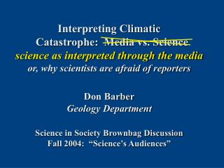 Topic :  abrupt climate change