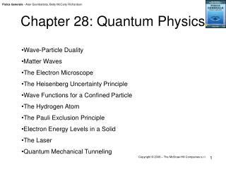 Chapter 28: Quantum Physics