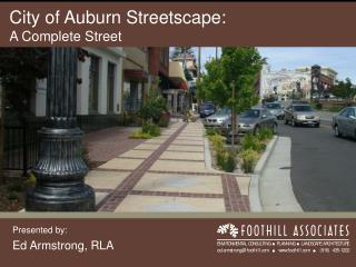 City of Auburn Streetscape: A Complete Street