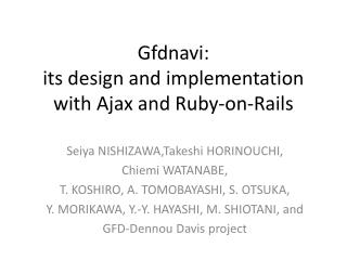 Gfdnavi: its design and implementation with Ajax and Ruby-on-Rails