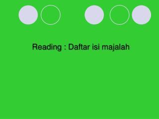 Reading :  Daftar isi majalah