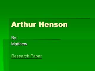 Arthur Henson