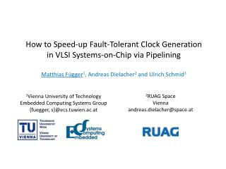 How to Speed-up Fault-Tolerant Clock Generation in VLSI Systems-on-Chip via Pipelining