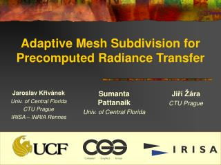 Adaptive Mesh Subdivision for Precomputed Radiance Transfer
