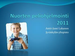 Nuorten peliohjelmointi 2011