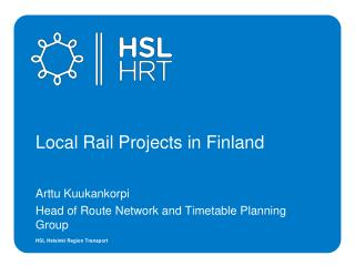 Local Rail Projects in Finland