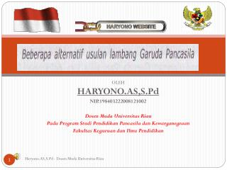 OLEH HARYONO.AS,S.Pd NIP.198403222008121002 Dosen Muda Universitas  Riau