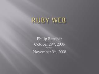 Ruby Web