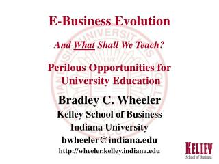 E-Business Evolution And  What  Shall We Teach? Perilous Opportunities for  University Education