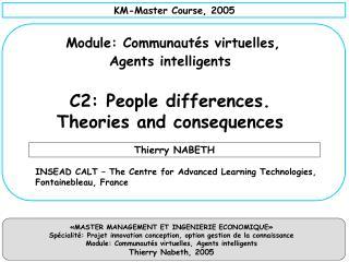 KM-Master Course , 2005