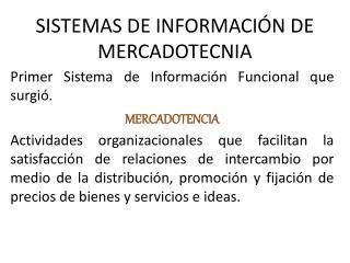 SISTEMAS DE INFORMACI N DE MERCADOTECNIA