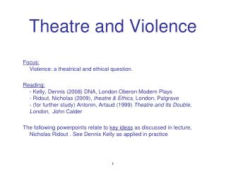 Theatre and Violence