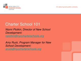 Charter School 101