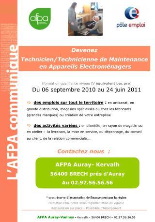 Devenez  Technicien/Technicienne de Maintenance en Appareils Electroménagers