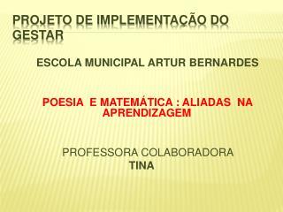 PROJETO DE IMPLEMENTA��O DO GESTAR