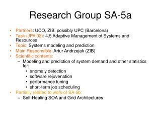 Research Group SA-5a