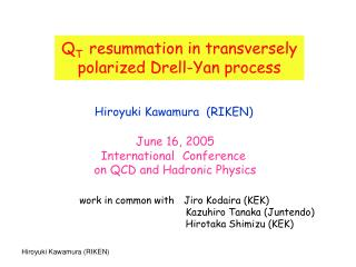 Q T resummation in transversely polarized Drell-Yan process