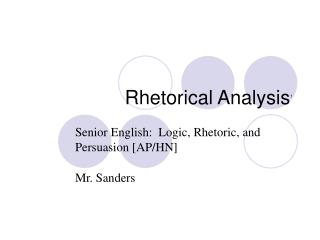 Rhetorical Analysis 1