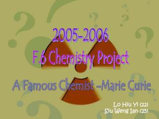 2005-2006 F.6 Chemistry Project