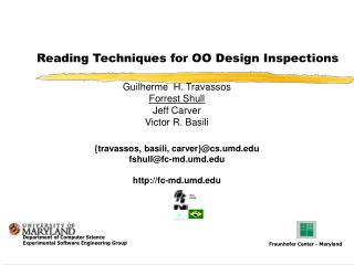 Reading Techniques for OO Design Inspections