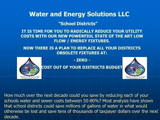 Water and Energy Solutions LLC