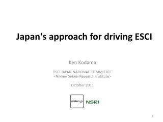 Japan's approach for driving ESCI