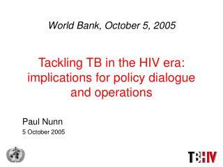 Paul Nunn 5 October 2005
