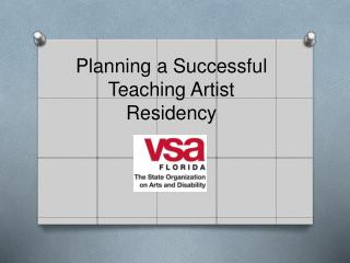 Planning a Successful Teaching Artist Residency