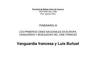 Vanguardia francesa y Luis Bu�uel