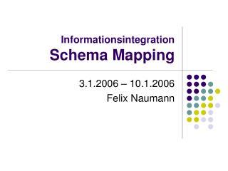 Informationsintegration Schema Mapping