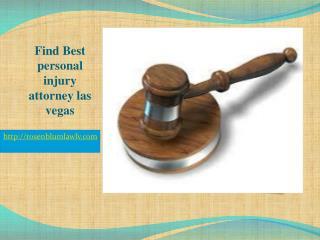 Find Best personal injury attorney las vegas