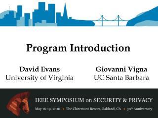 Program Introduction