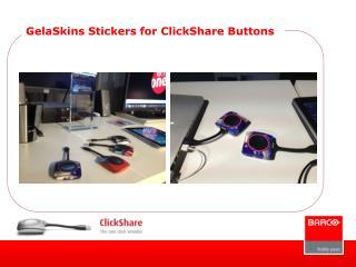 GelaSkins Stickers for ClickShare Buttons