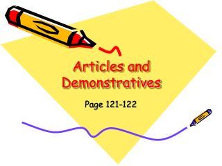 Articles and Demonstratives