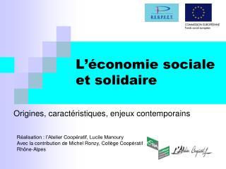 L  conomie sociale et solidaire
