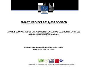 SMART  PROJECT 2011/033 EC-OECD
