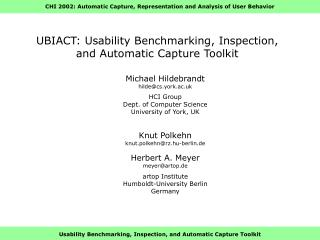 UBIACT: Usability Benchmarking, Inspection, and Automatic Capture Toolkit