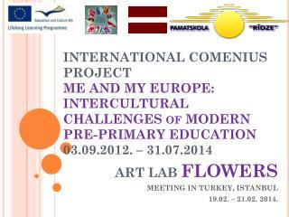 ART LAB  FLOWERS MEETING IN TURKEY, ISTANBUL 19.02. – 21.02. 2014.