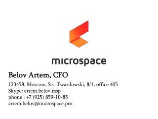 Belov Artem , CFO