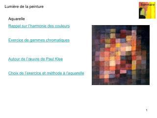Aquarelle  Rappel sur l'harmonie des couleurs Exercice de gammes chromatiques
