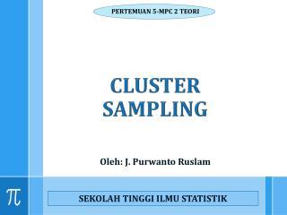 CLUSTER SAMPLING