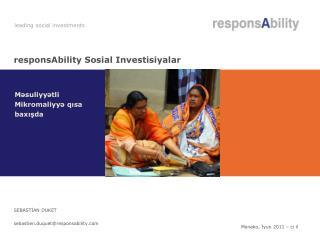 responsAbility Sosial Investisiyalar