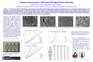 Impedance Spectroscopy of VOCs Using PVD-Applied Sensor Substrates