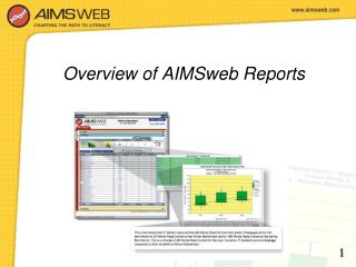 Overview of AIMSweb Reports