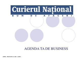 AGENDA TA DE BUSINESS