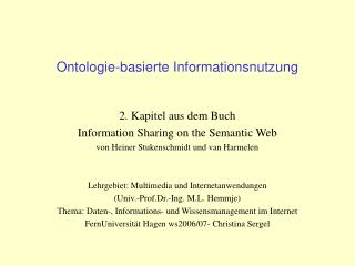 Ontologie-basierte Informationsnutzung