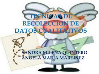 TECNICAS  DE RECOLECCION DE DATOS CUALITATIVOS