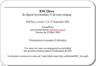 ESC/Java de digital (esc/modula-3) devenu compaq